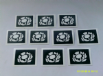 10 - 100 x Scottish Thistle stencils for etching on glass rugby football Scotland national emblem 6 Nations